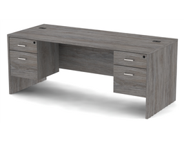 Belair Lite Double Pedestal Desk with 3/4 Modesty (All Sizes & Finishes)
