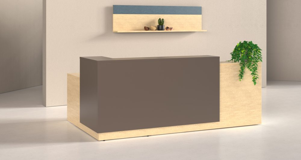 designer l-shape modern reception desk