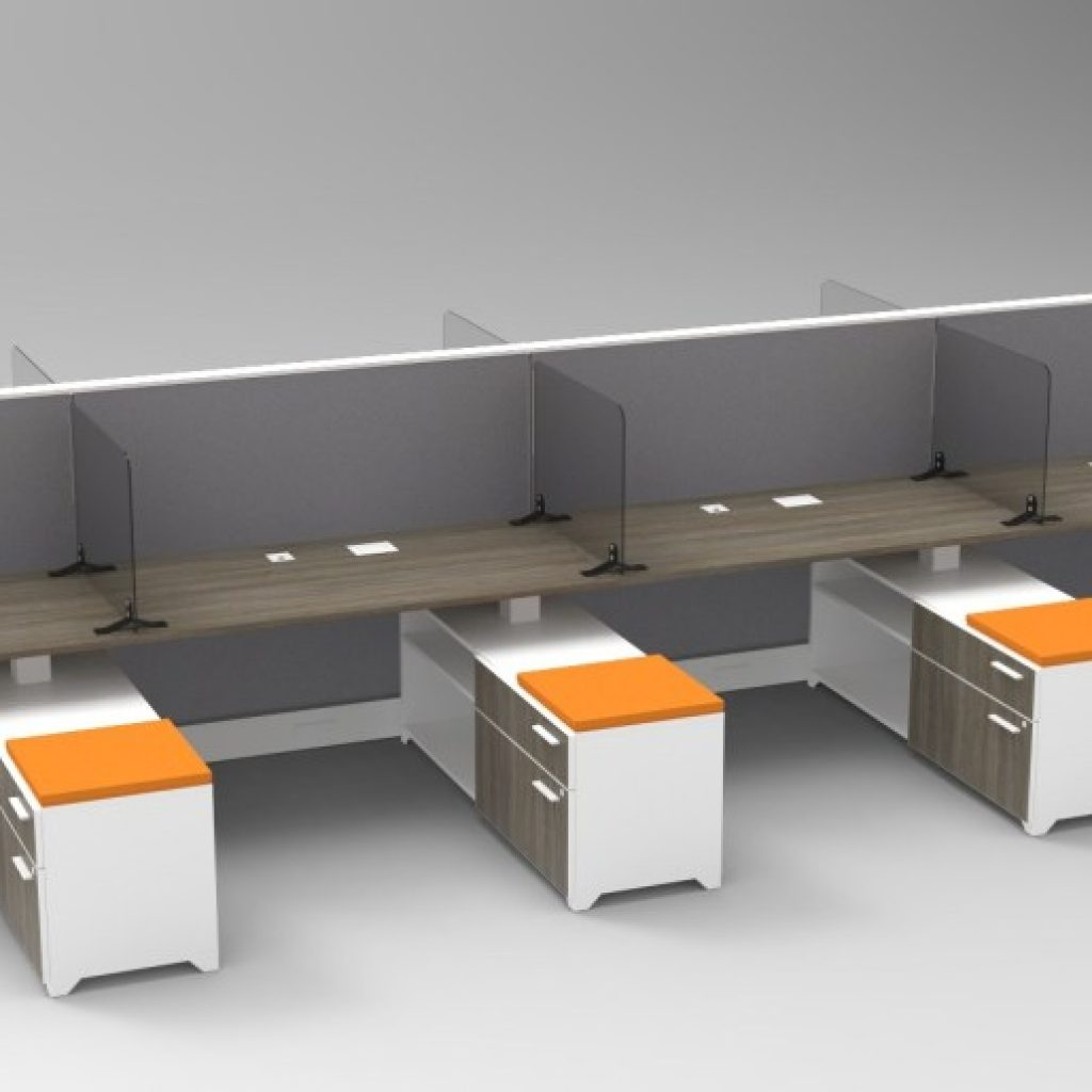 Barriers for Open Office Workstations - Tayco Splits Shield
