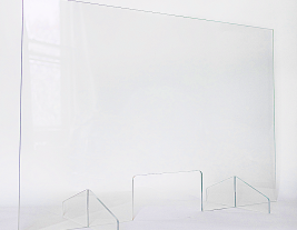 "Clear Plexiglass Safety Barriers - Freestanding 24""h x 36""w or 48""w"