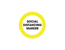 "Social Distancing 6"" Decals - 3 Colours (Pack of 10)"