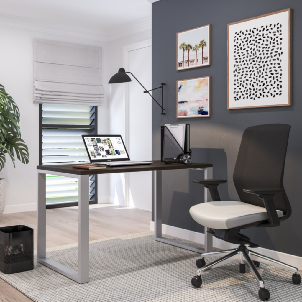 Belair Lite Office Desk with Metal Legs - All Sizes