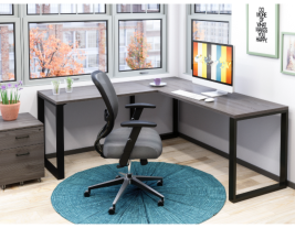 Belair Lite L-Shape Desk with Metal Legs