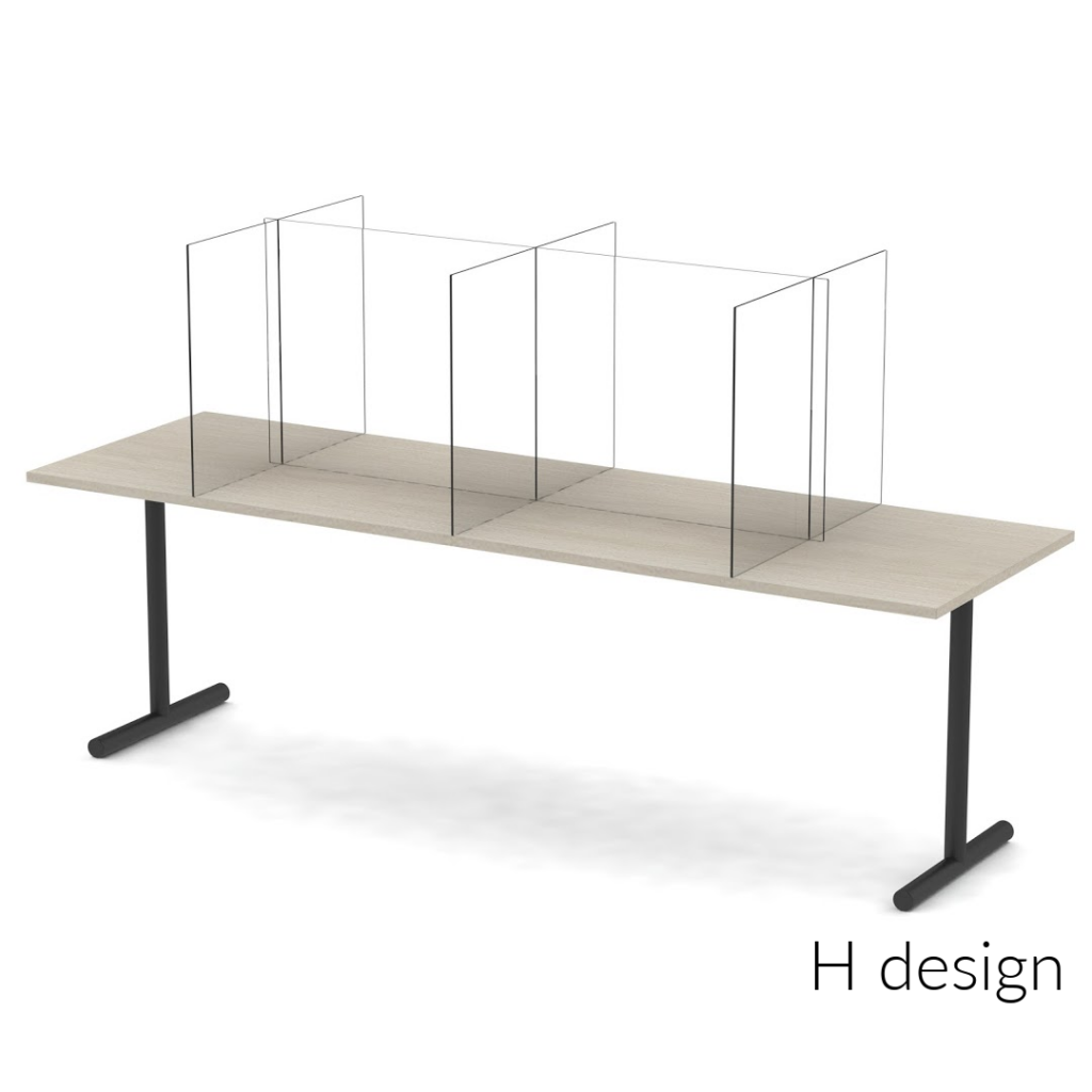 Clear Sneeze Guards for Office, Meeting & Cafeteria Tables