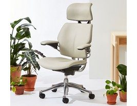 Humanscale Freedom Chair with Headrest in Corvara Leather
