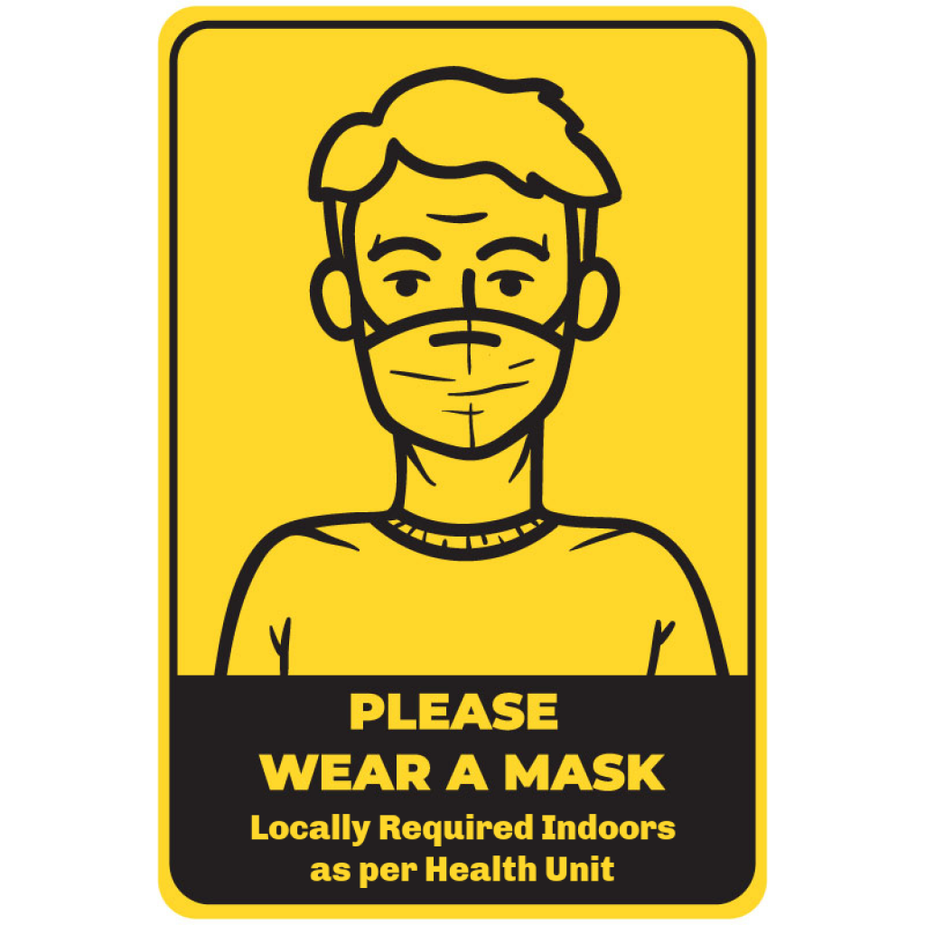 """Masks Required 18"""" Sign (4 pack)"""