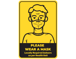 "Masks Required 18"" Sign (4 pack)"