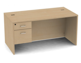 Belair Lite Single Pedestal Desk with Full Modesty (All Sizes & Finishes)