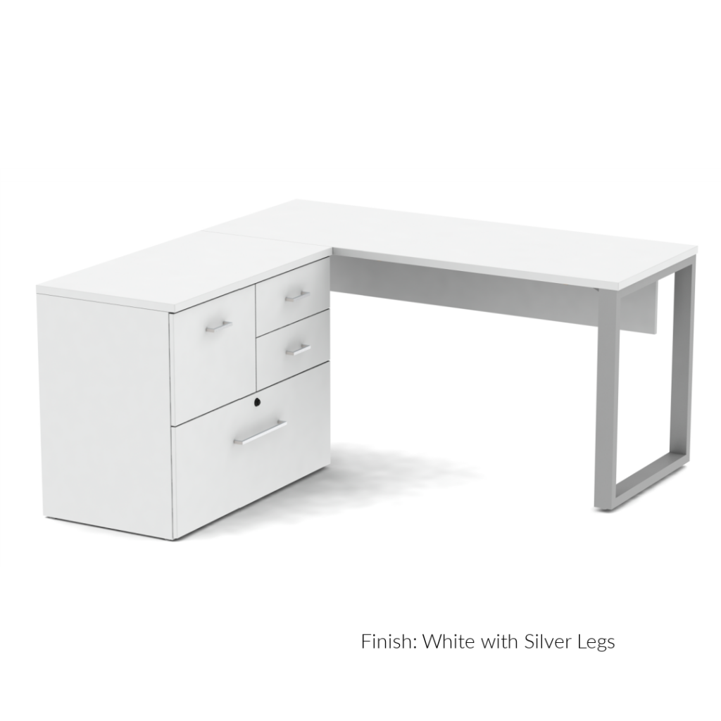 Belair Lite Desk with Combo Lateral Storage