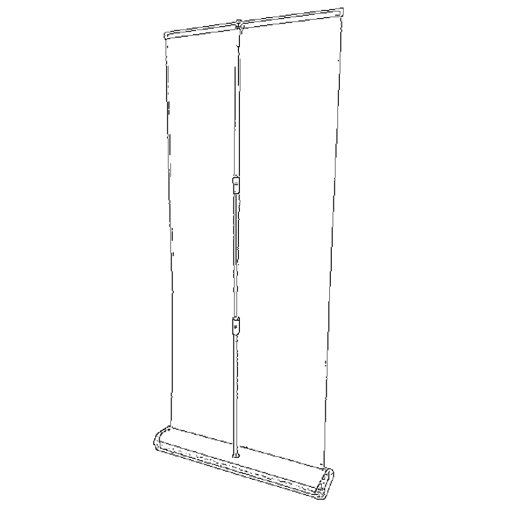 Clear Floor Standing Barriers for Safety - Roll Up Style