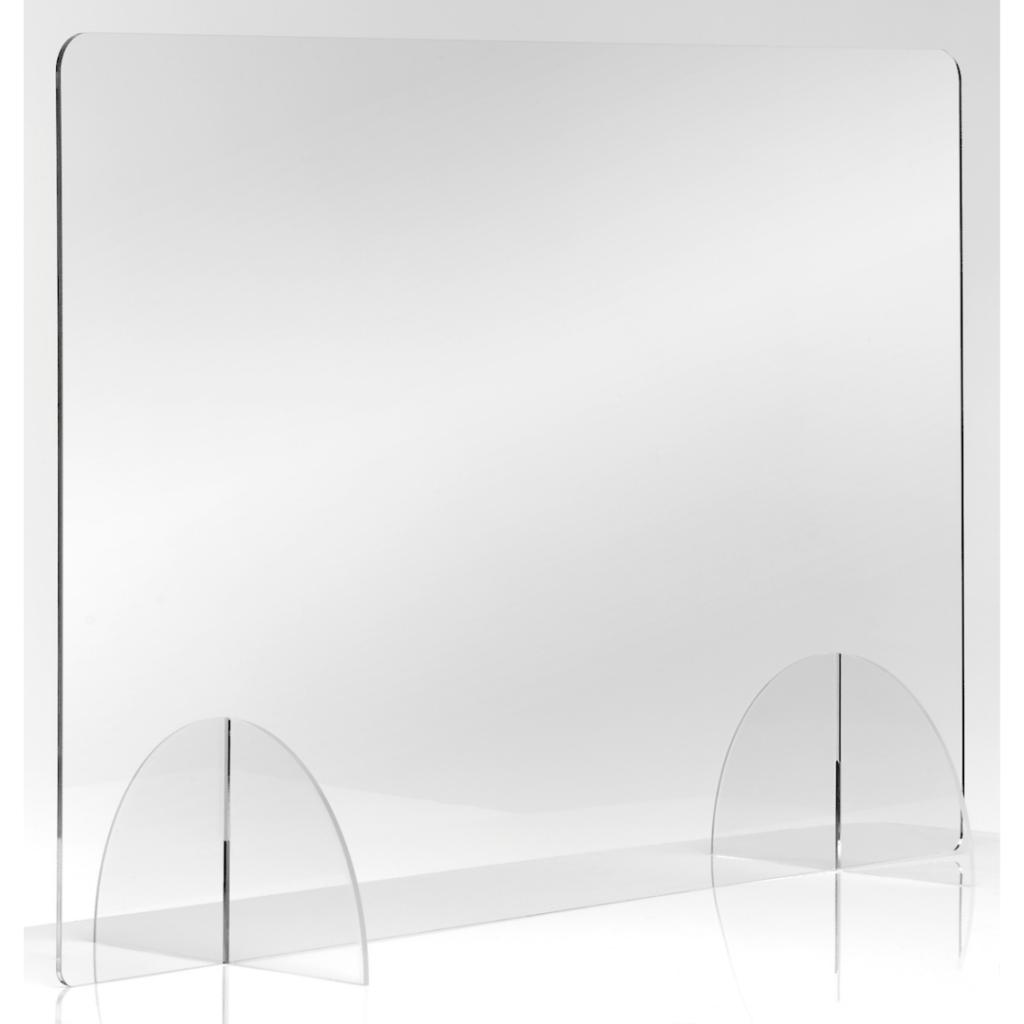 ICON Clear Desk Shield Barriers - Freestanding or Attached