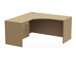 "Small Corner Office Desk - Belair Lite 60"" Left Layout"