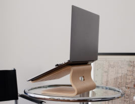 Modern Laptop Stand for Desk - Wood