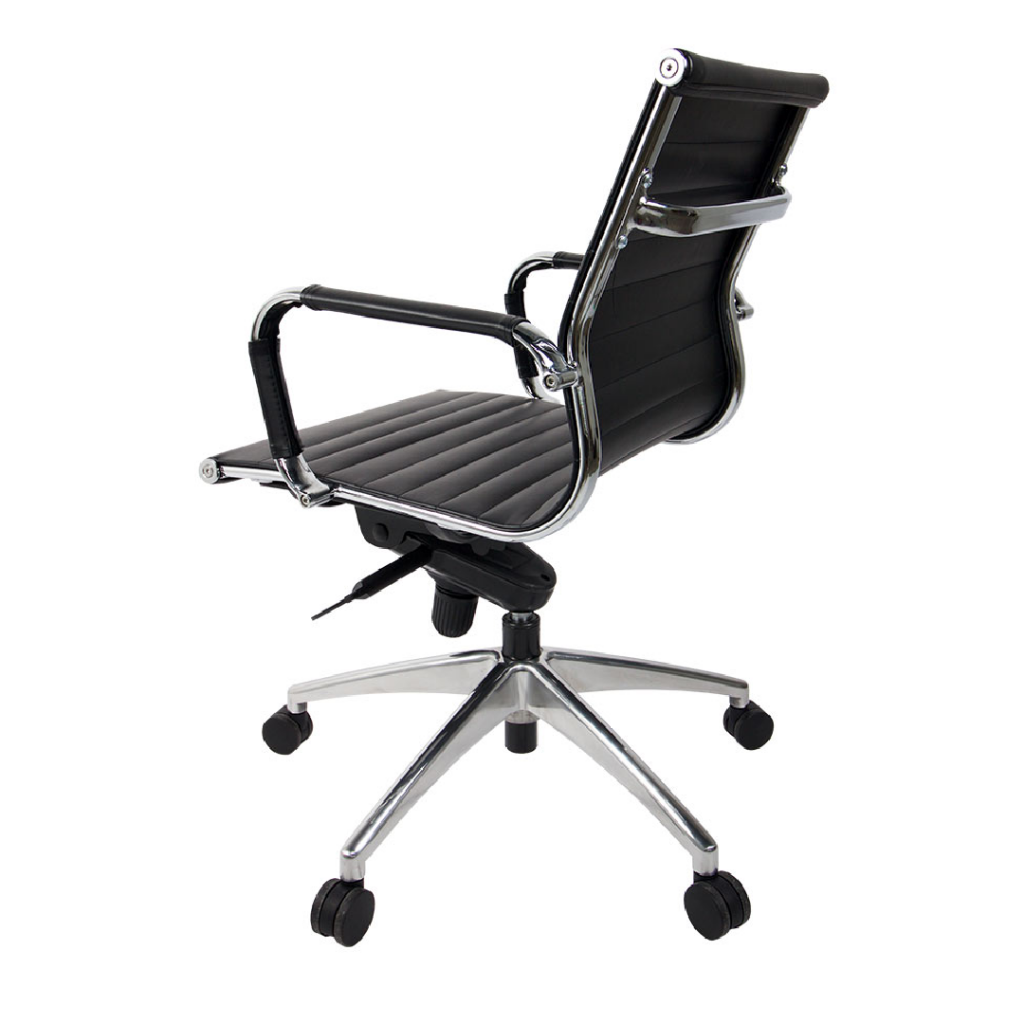 Icon Sling Mid-Back Black Eco Leather Office Chair